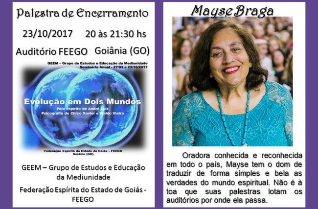 Palestra em Goiânia – 23/10/2017